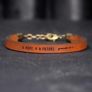 A Hope and A Futre - Leather Bracelet